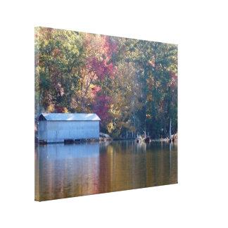 Boathouse on Blount's Creek Canvas Print