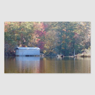 Boathouse on Blount's Creek - Chocowinity, NC Rectangular Sticker