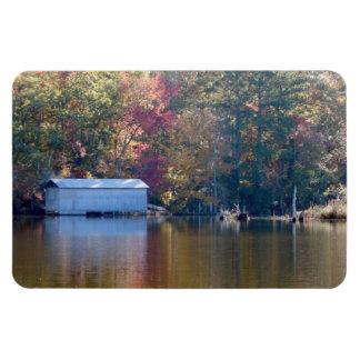 Boathouse on Blount's Creek Rectangular Photo Magnet