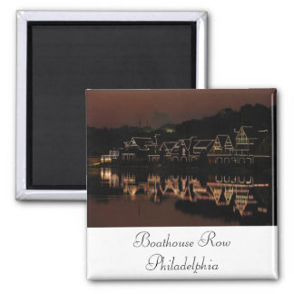Boathouse Row 2 Inch Square Magnet