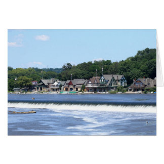 Boathouse Row 2 Stationery Note Card