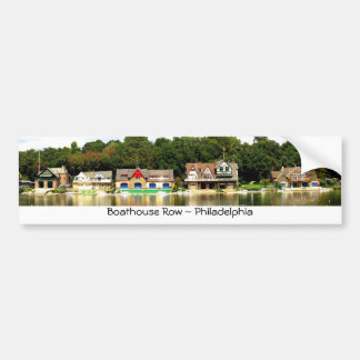 Boathouse Row Bumper Sticker