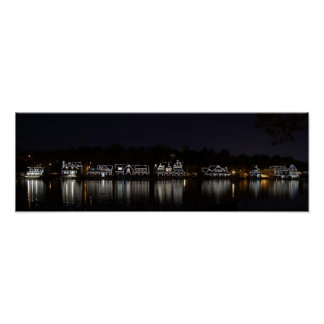 Boathouse Row by Night...Philadelphia, PA Poster