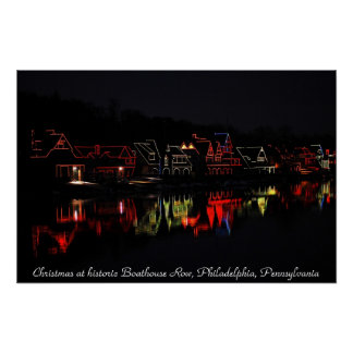Boathouse Row Canvas Art Poster