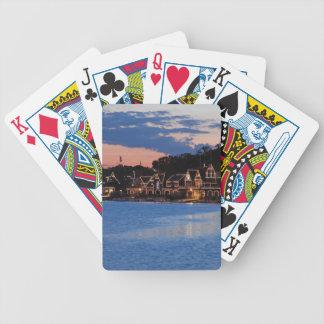 Boathouse Row dusk Bicycle Playing Cards
