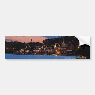 Boathouse Row dusk Bumper Sticker