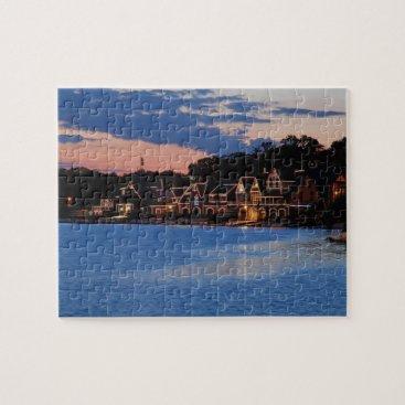 JLPhotographs Boathouse Row dusk Jigsaw Puzzle