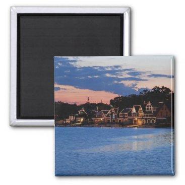 JLPhotographs Boathouse Row dusk Magnet