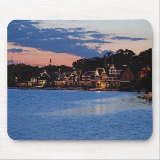 Boathouse Row dusk Mouse Pad