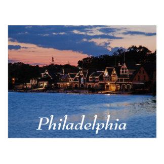 Boathouse Row dusk Postcard