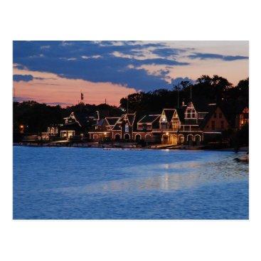JLPhotographs Boathouse Row dusk Postcard
