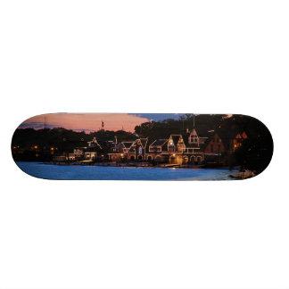 Boathouse Row dusk Skateboard Deck