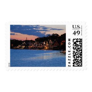 Boathouse Row dusk Stamp