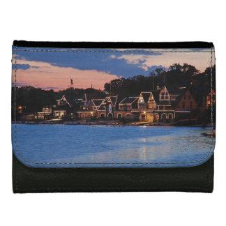 Boathouse Row dusk Leather Wallet For Women