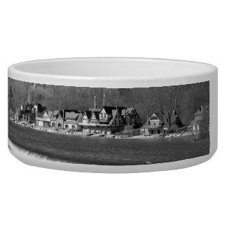 Boathouse Row winter b/w Bowl