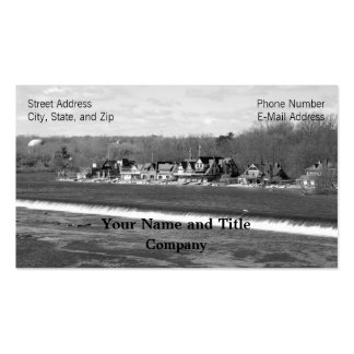 Boathouse Row winter b/w Business Cards