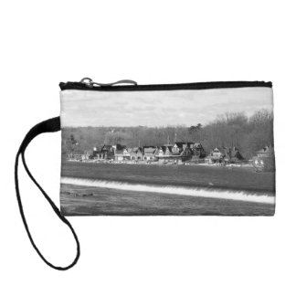 Boathouse Row winter b/w Coin Purse
