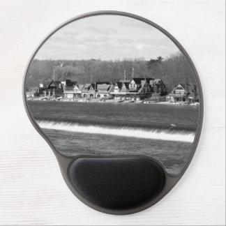 Boathouse Row winter b/w Gel Mousepads