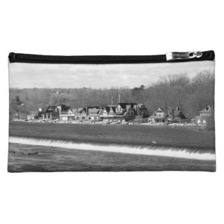 Boathouse Row winter b/w Makeup Bag