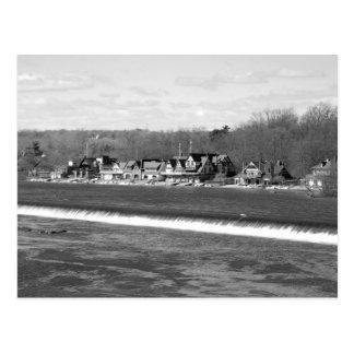 Boathouse Row winter b/w Postcard