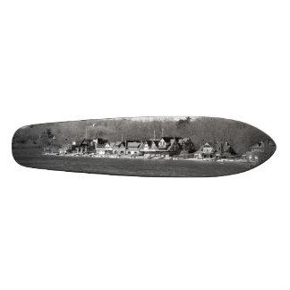 Boathouse Row winter b/w Skateboard