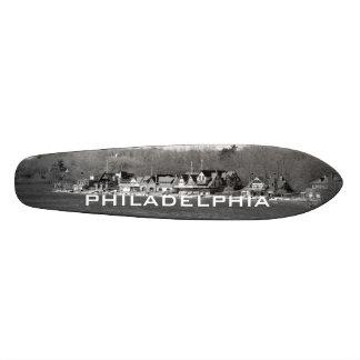 Boathouse Row winter b/w Skateboard Deck