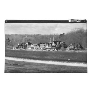 Boathouse Row winter b/w Travel Accessory Bag