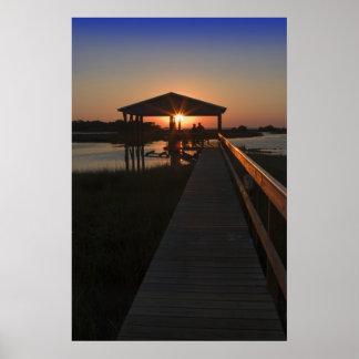 Boathouse Sunset Print