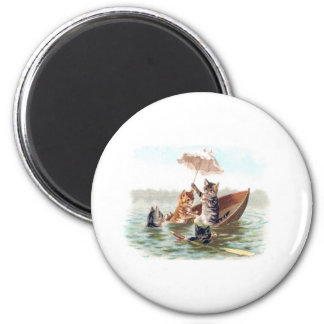 Boating Accident 2 Inch Round Magnet