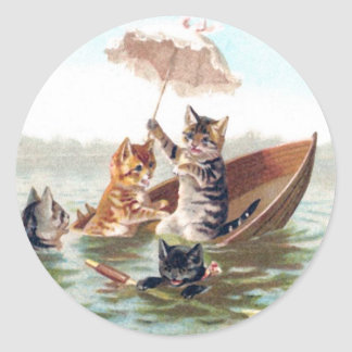 Boating Accident Classic Round Sticker