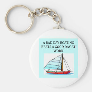 boating and sailing fun basic round button keychain