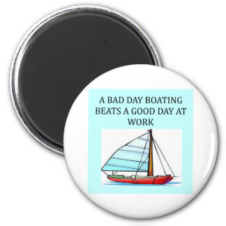 boating and sailing fun 2 inch round magnet