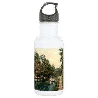Boating at Camberley I, Surrey, England Water Bottle