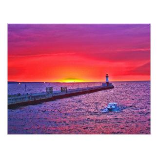 "Boating at Sunrise 8.5"" X 11"" Flyer"