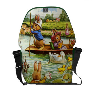 Boating Bunnies Courier Bag
