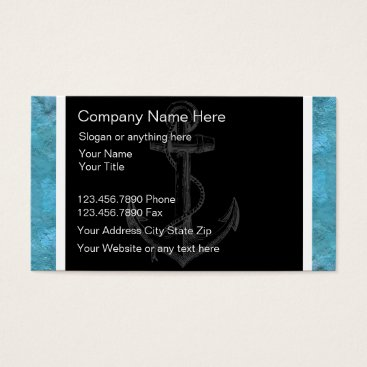 Wedding Themed Boating Business Card