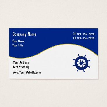 Wedding Themed Boating Business Cards