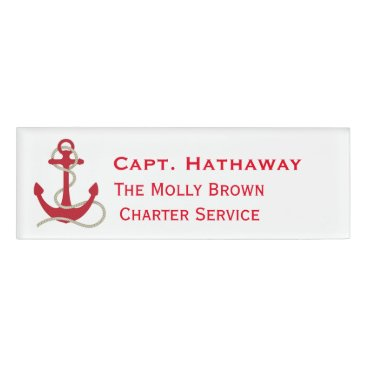 Professional Business Boating Business Name Tag