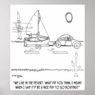 Boating Cartoon 0430 Poster