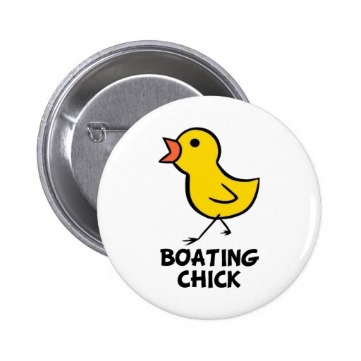 Boating Chick Button