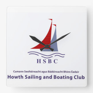 Boating Club image for square wall clock