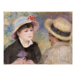 Boating Couple by Pierre-Auguste Renoir Art Photo