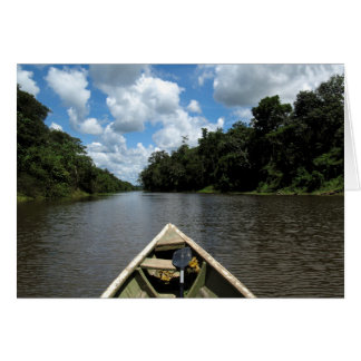 Boating down the Amazon Greeting Card