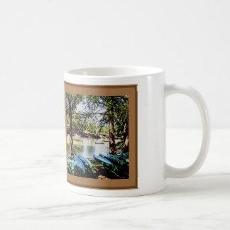 boating down the river basic white mug