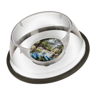boating down the river pet bowl