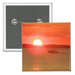Boating During Sunset Pinback Button