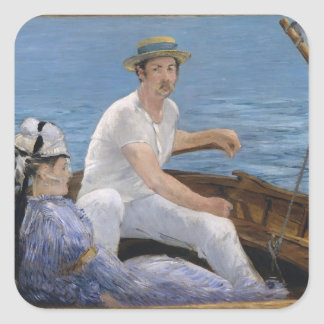 Boating - Édouard Manet Square Sticker