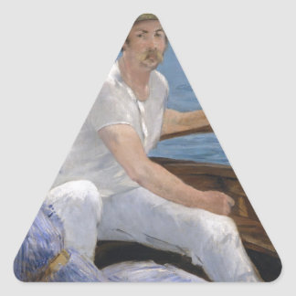 Boating - Édouard Manet Triangle Sticker