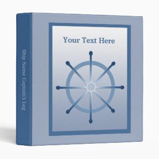 Boating Helm Ship Wheel Captain's Log Book Binder