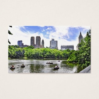 Boating in Central Park Business Card